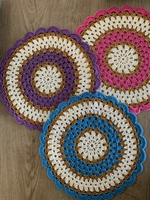 Used Crochet coasters 3 pieces  in Dubai, UAE
