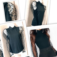 Used Fashion Puff Sleeve Mesh top S / UK 8 in Dubai, UAE