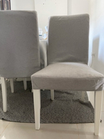 Used Dining chair / with gray cover  in Dubai, UAE