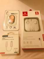 Used iPhone headset, adapter and holder  in Dubai, UAE