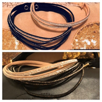 Used 2 leather wrap bracelets or chokers  in Dubai, UAE