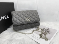Used New Chanel bag grey color with package  in Dubai, UAE