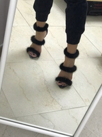 Used Giussepe Zanotti heels with fur in Dubai, UAE