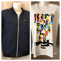Used fashion jacket size M & T-shirt  in Dubai, UAE