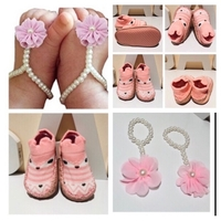 Used Baby shoes socks & flower foot wear in Dubai, UAE