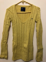 Used American Eagle Yellow Cable Knit Sweater in Dubai, UAE