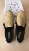Used Steve Madden Buhba gold shoes US 39 in Dubai, UAE