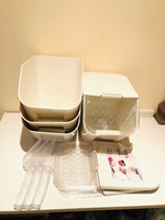 Used Food store boxes 4 pcs with lid & shovel in Dubai, UAE