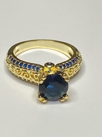 Used 925 Sterling silver 14k gold ring size 8 in Dubai, UAE