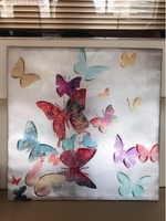 Used Butterfly Canvas Painting, Wall Art Pic  in Dubai, UAE