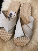 Used Beige slippers size 40 in Dubai, UAE