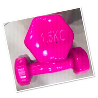 Used 2 PCs Pink Dumbell 1.5kg each ♥️ in Dubai, UAE