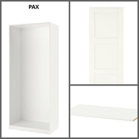 Used IKEA WHITE WARDROBE SET/ 100x58x236cm in Dubai, UAE