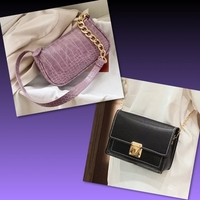 Used BUNDLE MINI PURPLE & BLACK BAGS in Dubai, UAE