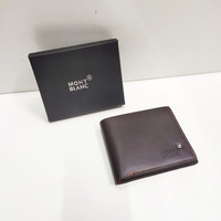 Used New Mont Blanc wallet brown color in box in Dubai, UAE
