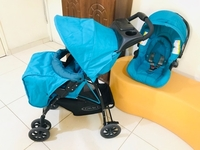 Used Baby Stoller with car seat  in Dubai, UAE