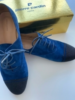 Used Pierre Cardin navy suede leather S 39.5 in Dubai, UAE