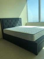 Used New bed w/ mattress and storage cabinets in Dubai, UAE
