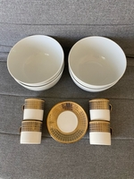 Used Coffee set + 4 soup bowls good condition in Dubai, UAE