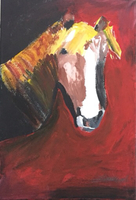 Used Poster paint painting of horse in Dubai, UAE