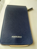 Used men leather card holder- blue in Dubai, UAE