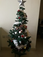 Used Christmas tree with all decor in Dubai, UAE