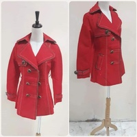 Used Red canvas Jacket for lady * in Dubai, UAE