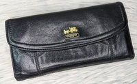 Used 🌺 Coach Black Leather Long Wallet in Dubai, UAE