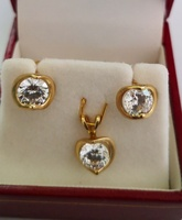 Used 10k Solid Gold Earrings and Pendant CZ in Dubai, UAE