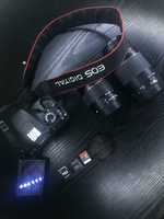 Used Canon d600 with two , 18×55 75×300 lense in Dubai, UAE