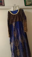 Used Blue colour full sleeves maxi in Dubai, UAE