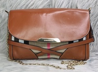 Used 🌸 BURBERRY Check Leather Sling Bag in Dubai, UAE