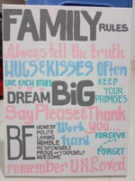 Used Family Rules Painting in Dubai, UAE