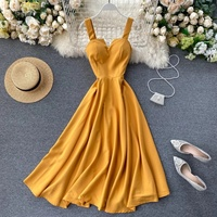 Used Brand new yellow long dress size S in Dubai, UAE