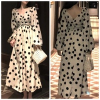 Used Brand new ladies dotted beije dress L in Dubai, UAE