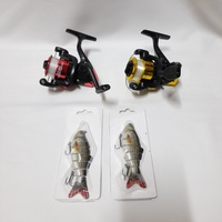 Used Fishing Reel (2 Pcs) with Bait (2 Pcs) in Dubai, UAE