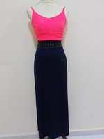 Used Blue Skirt with Free Crop top Size S in Dubai, UAE
