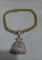 Used Hiphop purse pendant necklace brand new in Dubai, UAE