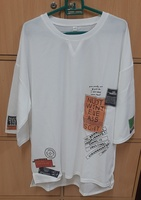 Used Fashionable white T shirt for him in 4XL in Dubai, UAE