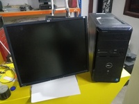 Used Dell desktop CPU and monitor in Dubai, UAE