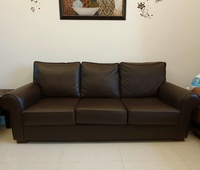 Used IKEA 3 seat sofa XL - EKTORP dark brown in Dubai, UAE