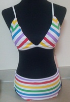 Used Juicy Couture striped swimwear in Dubai, UAE