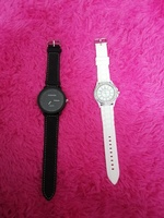 Used 2 new watches color black and white in Dubai, UAE