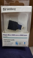 Used Sanberg micro HDMI Male to Female Adaptr in Dubai, UAE