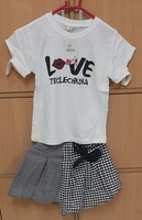 Used Mini skirt and Tshirt for your baby girl in Dubai, UAE