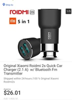 Used Original Roidmi 2s bluetooth & charger in Dubai, UAE