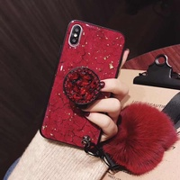 Used New iPhone X/XS case+holder+feather stra in Dubai, UAE