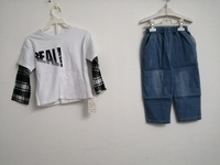 Used Kids Style Shirt Jeans 2 Pieces Children in Dubai, UAE
