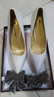 Used High heels white foot size 38 in Dubai, UAE