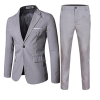 Used Brand new men formal grey suit size M in Dubai, UAE